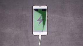 智能手机充电停止运动动画 股票视频