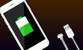 智能手机充电赞成 免版税库存照片