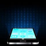 智能手机和数字式数字构思设计 免版税图库摄影
