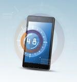 智能手机和高科技背景 皇族释放例证