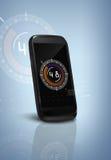 智能手机和高科技背景 库存图片