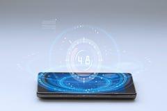 智能手机和高科技背景 库存照片