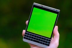 智能手机在手中,大显示 图库摄影