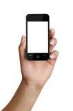 智能手机在手中 免版税库存照片