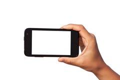 智能手机在手中 图库摄影