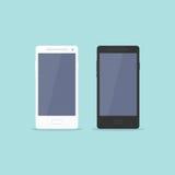 智能手机平的设计 库存图片