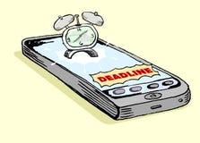 智能手机最后期限通知 图库摄影