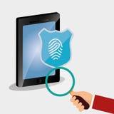 智能手机查寻密码互联网安全 免版税库存图片