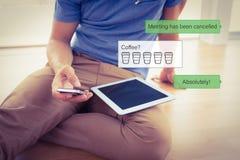 智能手机正文消息的综合图象 免版税库存照片