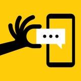 智能手机消息 免版税库存照片