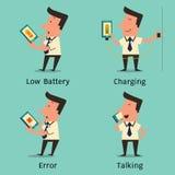 智能手机的问题 免版税库存照片