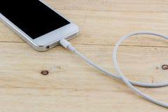 智能手机的USB缆绳 库存照片