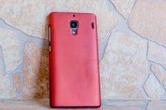 智能手机红颜色 图库摄影