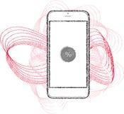 智能手机视觉例证 免版税库存照片