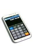 智能手机计算器作用 免版税图库摄影