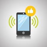 智能手机设计、联络和技术概念,编辑可能的传染媒介 库存图片