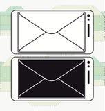 智能手机邮寄的消息象传染媒介 免版税库存照片
