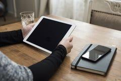 智能手机/膝上型计算机大模型 免版税库存图片