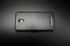 智能手机黑色盖子 库存图片