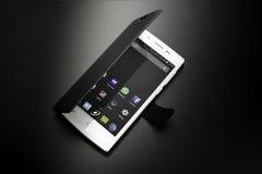 智能手机黑色盖子 免版税库存照片