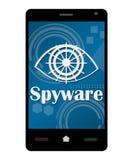 智能手机间谍软件 库存图片