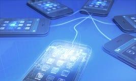 智能手机 库存例证