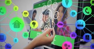 智能手机apps象的综合图象 免版税图库摄影