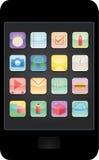 智能手机apps -例证 库存照片