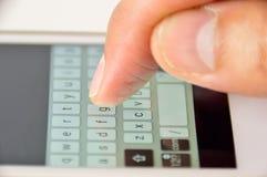 智能手机Textingtyping Mensaje 库存图片