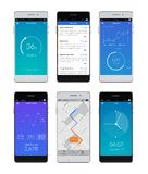 智能手机Ui集合 免版税图库摄影