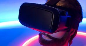 智能手机VR 360 3D玻璃新技术 免版税库存图片