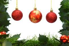 暂停的三个圣诞节中看不中用的物品 库存图片