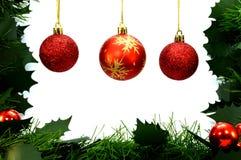 暂停的三个圣诞节中看不中用的物品 免版税库存图片