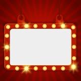 暂停的发光的戏院广告牌 库存例证