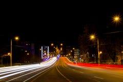 暂停的路在克拉约瓦,罗马尼亚 免版税库存照片