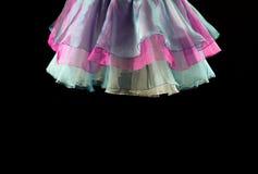 暂停的跳芭蕾舞者裙子的细节 库存照片