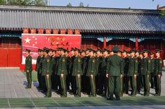 暂挂中国的战士 免版税库存图片