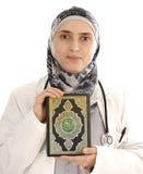 暂挂圣洁koran的书医生 库存照片