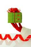 暂挂当前s圣诞老人的圣诞节现有量 免版税库存图片