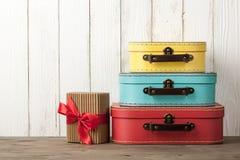 暑假和旅行背景 免版税库存照片