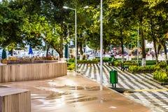 暑假在重的降雨量以后的市中心-土耳其 免版税库存照片