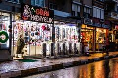 暑假在重的降雨量以后的市中心-土耳其 免版税库存图片
