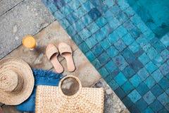 暑假时尚概念 免版税库存图片