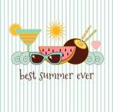 暑假标志例证 免版税库存照片
