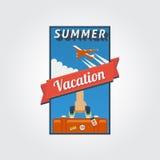 暑假横幅01 免版税库存照片