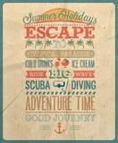 暑假海报。 库存图片