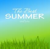 暑假海报传染媒介例证 库存图片