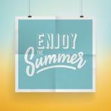 暑假海报设计 库存图片