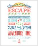 暑假海报 库存照片