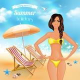 暑假现实海报 库存图片